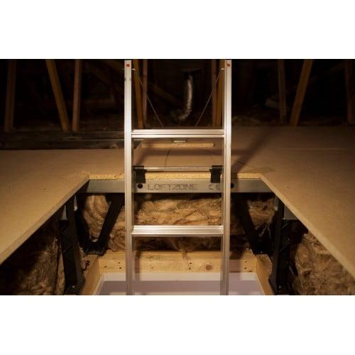 Ladder secured to LoftZone deck